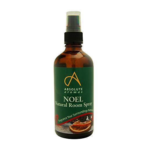 Absolute Aromas Spray d'Ambiance Noel 100ml - Un mélange hivernal d'huiles essentielles pour un arôme chaleureux et festif