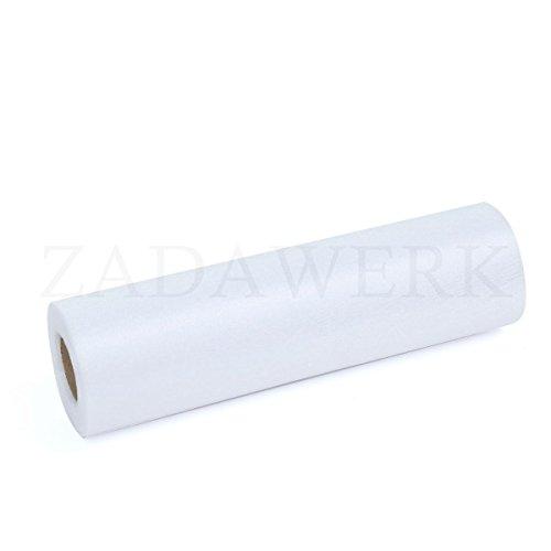 ZADAWERK® Organza - 30 m x 28 cm - Weiß - 1 Rolle – Deko - Meterware Organzastoff als Tischläufer