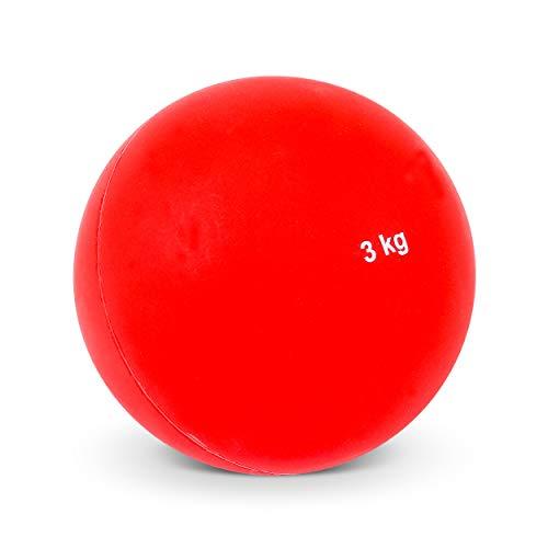 Vinex Hallenstoßkugel mit Fester Hülle - 3,00 KG - Rot