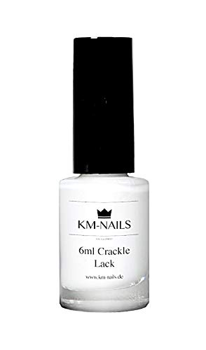 KM-Nails Crackle Lack weiß 6ml