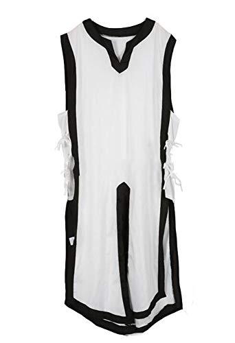 Huateng Disfraz de túnica vikinga Medieval para Hombre Camisa Pirata renacentista
