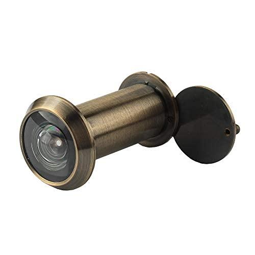 Visor de puerta de seguridad, latón macizo de 220 grados, mirilla con cubierta de privacidad giratoria resistente, duradero..