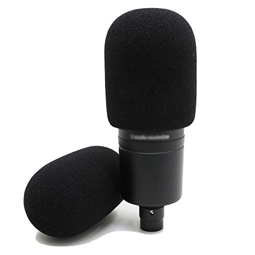 Youshares schiuma mic parabrezza–grandi dimensioni microfono copertura per audio Technica AT2020e altri grandi microfoni, come un filtro antipop (2pezzi)