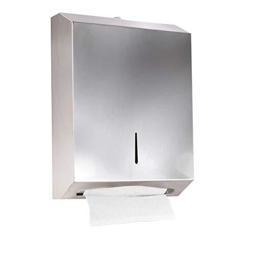 PENGKE Paper Towel Dispenser,304 Grade Stainless Steel with Lock Design,400 C-Fold Or 525 Multifold Capacity