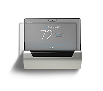 GLAS Smart Thermostat by Johnson Controls Translucent OLED Touchscreen Wi-Fi Mobile App Works with Amazon Alexa