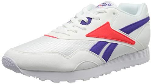 Reebok Herren Rapide MU Gymnastikschuhe, Mehrfarbig (White/Team Purple/Neon Red White/Team Purple/Neon Red), 44 EU