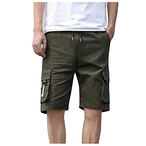 POLPqeD Cargo Shorts Pantalones Cortos Hombre Hombre Cargo Short Hombre PantalóN Corto Tipo Militar De AlgodóN Pantalones Cortos Hombre Baratos Classic-Fit Cargo Short PantalóN Corto Con Bolsillos