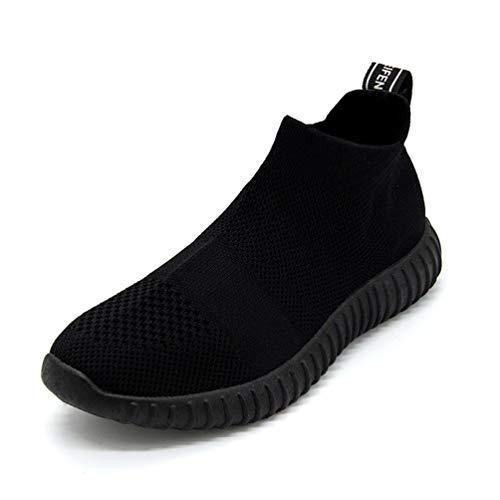 Frau Sport Schuhe Rutschen-auf Socken Laufschuhe Bequeme atmungsaktive weibliche Sneakers
