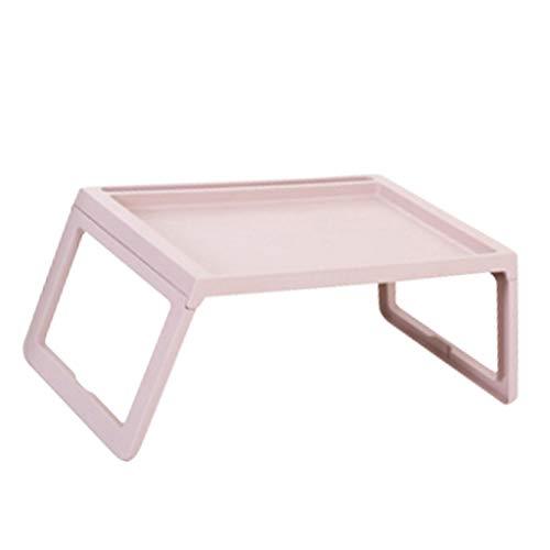 Fenteer Bureau Pliant Table Multifonctions Réglable pour Canapé, Lit, Terrasse, Balcon, Jardin - Rose