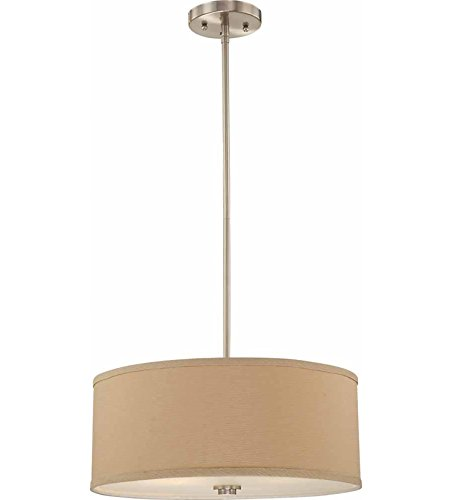 Volume Lighting Calare 2-Light Brushed Nickel Pendant