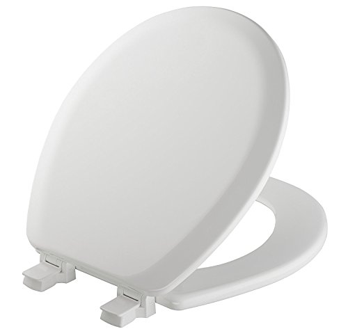 MAYFAIR 841EC 000 Cameron Toilet Seat will Never Loosen and Easily Remove, ROUND, Durable Enameled Wood, White