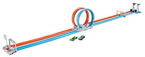 Hot Wheels Pista Playset Sfida a Doppio Giro Mortale, con 2 Macchinine, Giocattolo per Bambini 4 + anni, GFH85