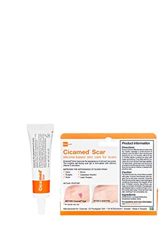 Cicamed Scar Treatment - Old & New Scar Removal Repair Correcting Gel - Flexible Clear - Medical Grade Silicone for Face, Body, C-Sections, Surgical, Burn, Acne - Clinically Tested