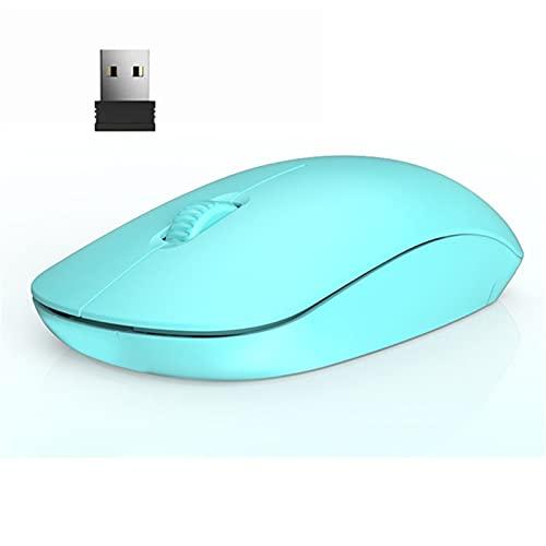 TYTG Accessoires pour Ordinateur Portable Souris optiques sans Fil USB 2.4G, Souris d'ordinateur de Couleur, Souris ergonomiques de Bureau pour Girl Girl Girl Accessoires informatiques (Color : Blue)