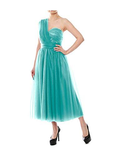 Stillluxury B4 Wandelbare Brautjungfernkleider Teelänge Tüll Abendkleid für Frauen Hochzeit Party Gr. 48 DE, türkis