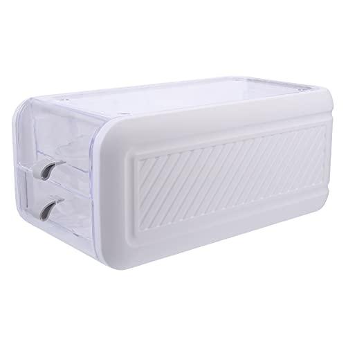 Cabilock Contenedor de Almacenamiento de Huevos con Tapa 24 Rejillas Contenedor de Plástico para Nevera Congelador Despensa Organizador de Cocina Blanco