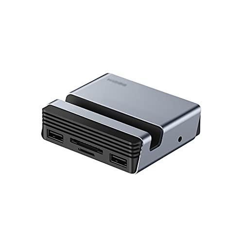 WCN Hub USB C HUB 10-IN-1 Tipo C HUB con HDMI, 100W PD, Ethernet, 3 USB 3.0 Puertos, SD/TF Lector de Tarjetas, Audio de 3.5 mm y Soporte telefónico USB Hub