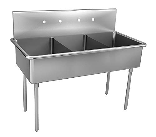 Great Features Of Just Manufacturing - NSFB-372-2-2 - Stainless Steel Scullery Sink, Without Faucet,...