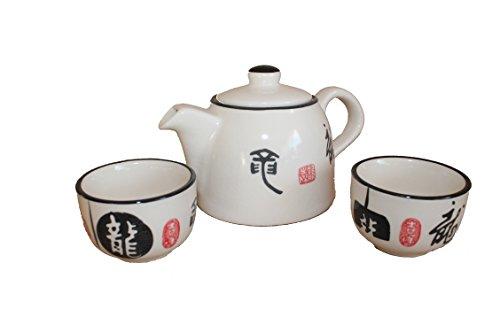 AAF Nommel®, schönes Asiatisches Teeset 203 Teeservice aus Keramik, Teekanne mit Tassen