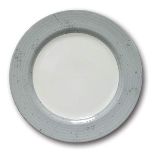 Lot de 6 assiettes plates Prestige Gris D 31 cm