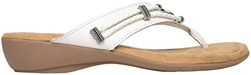 Minnetonka Womens Silverthorne Sandal, White, Size 11