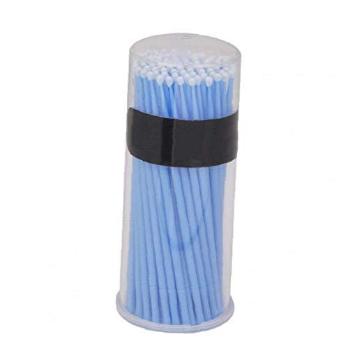 1box Remplacement Micro Brosses Applicateurs À Usage Unique Brosses Cils Extension Écouvillons Lashes Portable Lint Brosses Bleu Outil De Beauté Longue Durée