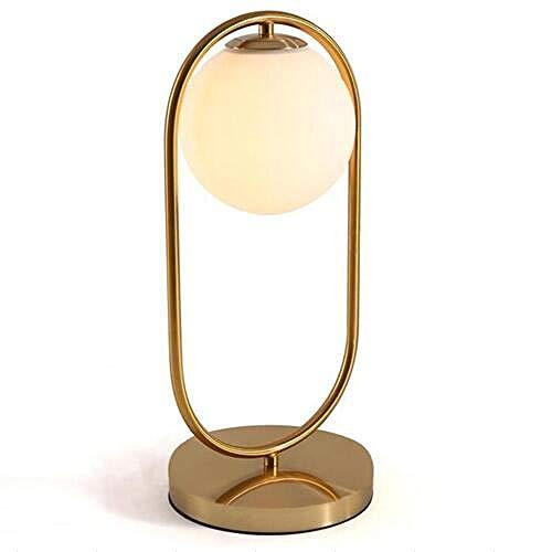 Nordic Art Deco gouden tafellamp metaal baseboard modern simpel mat glas @ 1 bal 45cm (H) _warmwit