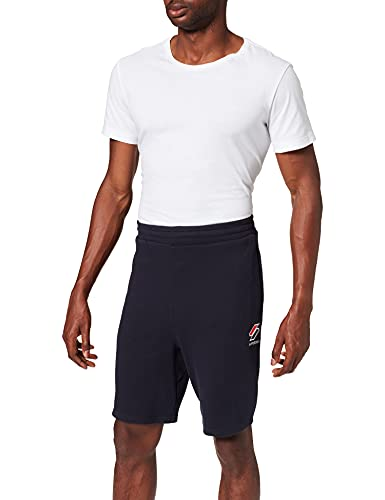 Superdry Mens Sportstyle Essential Shorts, Deep Navy, L