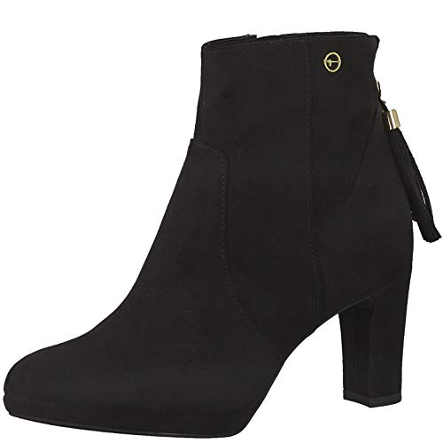 Tamaris Damen Stiefeletten, Frauen Ankle Boots, Women's Women Woman Abend elegant Feier Stiefel halbstiefel Bootie knöchelhoch,Black,37 EU / 4 UK