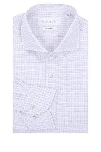 Baldessarini Herren Hemd Henry Weiß 42