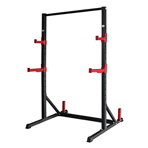 Power Cages Multifunktionales Bankdrücken Home Squat Rack Mehrstufig Verstellbares Squat-Rack Langhantelhalterung Heim-Klimmzug-Trainingsgestell Squat (Color : Black, Size : 100 * 120 * 200cm)