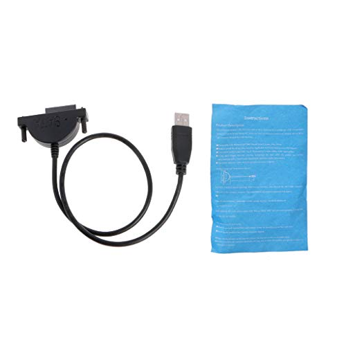 KLOVA USB Externo a SATA 13Pin (7 + 6) Laptop DVD CD ROM Cable Adaptador de Unidad óptica