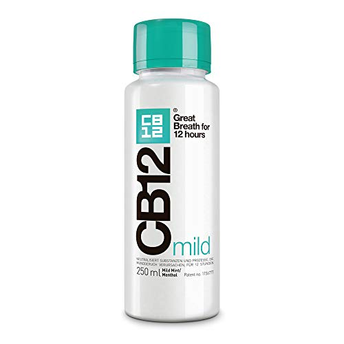 CB12 Mundspülung Menthol Mild - Mundgeruch langanhaltend neutralisieren! Patentierte Formel | Klinisch bestätigt | 250 ml