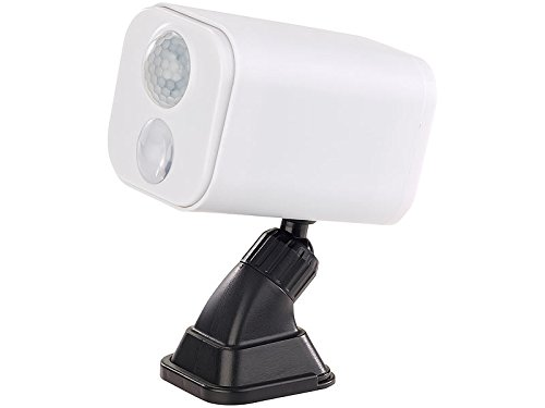 Luminea Lampen Batterie: LED-Wandspot für innen & außen, Bewegungssensor, 7 Monate Laufzeit (Strahler mit Bewegungsmelder)