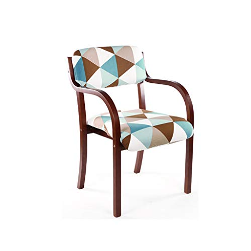 LJZslhei Stuhl Dining Chair Einfacher einzelner Schreibtisch-Stuhl Armrest-Stuhl-Computer-Stuhl Kreativer hölzerner Stuhl (Color : Brown)
