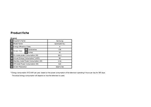 Samsung Quantum HDR Smart TV mit Tizen OS, Q60T QLED, 139,7 cm (43 Zoll)