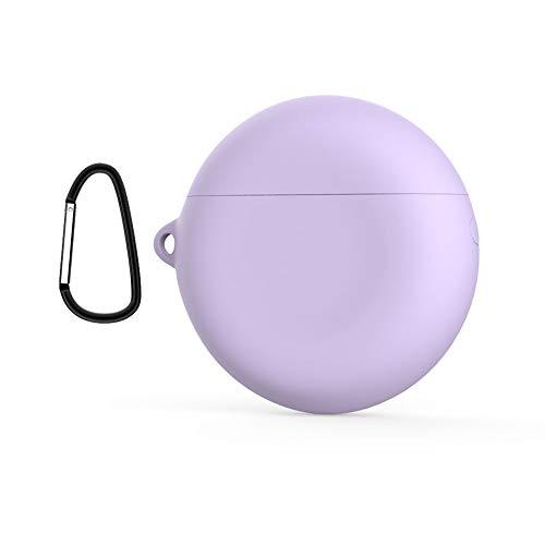 PZEMIN Custodia di Protettiva per Huawei FreeBuds 3 - Silicone Morbido Protezione Shell Guscio Cover Caso Case Accessoire per Huawei FreeBuds 3 (Purple)