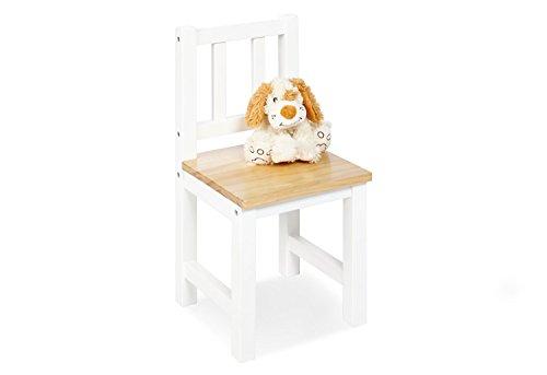 Pinolino Kinderstuhl Fenna, aus massivem Holz, Sitzhöhe 29 cm, für Kinder von 2 – 7 Jahren, weiß und klar lackiert