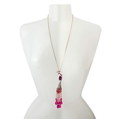 Betsey Johnson Peacock Pendant Necklace