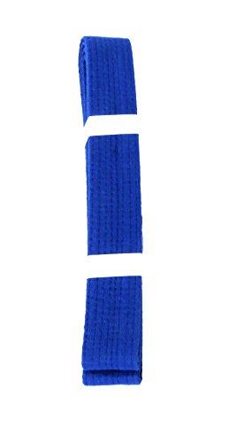 Lisaro kampfsportgürtel Karate Judo Taekwondo Ju Jutsu BJJ Gürtel Gr. 160-300 cm (blau, 160)