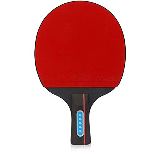 Review RUIXFTA Comfortable Table Tennis Bat Table Tennis Set Comfortable Handle, Two Rackets Three ...