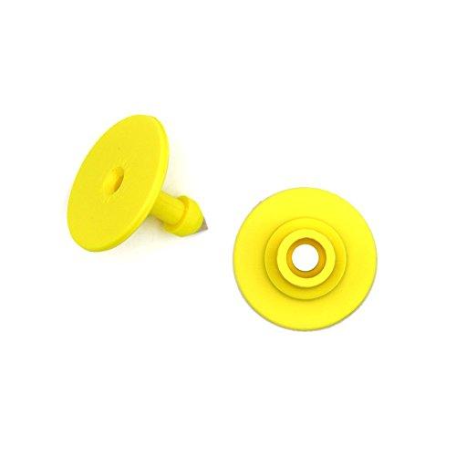 100 pcs carré Pig/semer/chèvre/Mouton oreille balises TPU Petite étiquettes vierges de l'Identification Round jaune