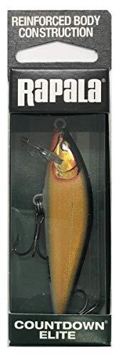Rapala Señuelo de pesca Countdown Elite de 7,5 cm, 10 g, para pesca de perca y trucha, cebo artificial, color: Gilded Gold Shad