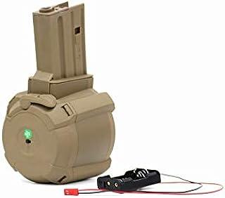 BATTLE AXE製 PMAG D-60タイプ 次世代M4 電動ガン対応 1500連 電動ドラムマガジン ノーマル タン