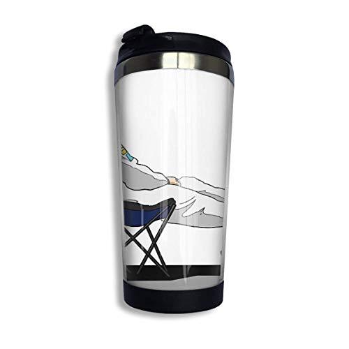 Hdadwy Edelstahl Stell Kaffeetasse Tasse - Formel 1 Fernando Alonso Liegestuhl Isolierte Vakuum Edelstahl Becher Tasse 13.5oz Kaffee Reisebecher