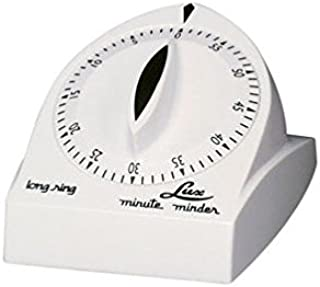 Lux Minute Minder Long Ring Timer Mechanical White 60 Min