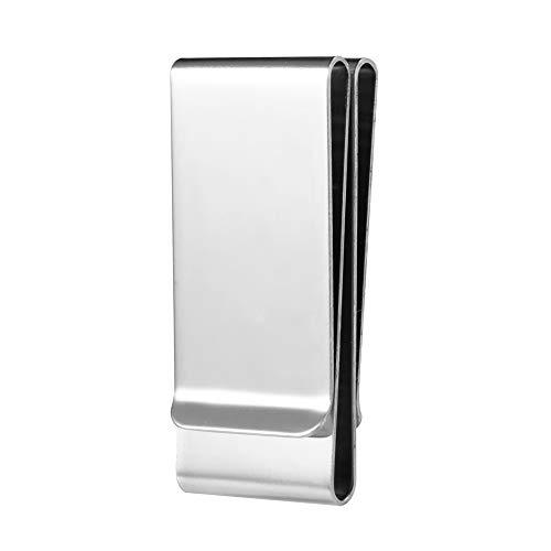 MAEO Geldklammer, Geldscheinklammer Silber aus Edelstahl für Kreditkarten und Bargeld-85 * 26 * 10 mm