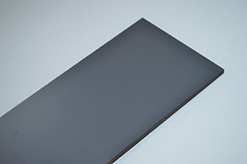 alt-intech Fassadenplatte Balkonplatte HPL Verschiedene Größen und Farben + Zubehör (1000 x 250 x 6 mm, Graphit grau)