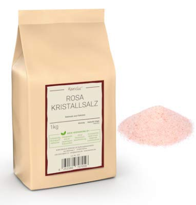 Kamelur 1kg Rosa Kristallsalz fein – feines Steinsalz ohne Zusätze, ideal für die Salzmühle