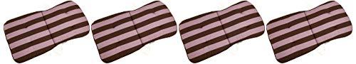 beo Niedriglehner BS53 Kos MN Monoblockauflage für niedrige Stapelstühle, circa 44 x 80 cm, Stärke 2,5 cm, Mehrfarbig